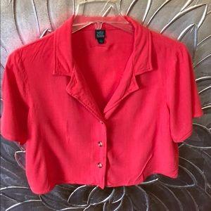 Wild Fable Short sleeve button up linen camp shirt